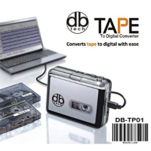 DB Tech Audio USB Portable Cassette Tape-to-MP3 Player Adapter with USB Cable and Software Cd Also Features Auto Reverse - FOR PC with Mini Tool Box (fs)