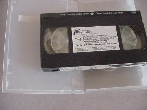 Vhs Video Of 10 Points To Dairy Quality Use Only Fda Approved Over The Counter (Otc) Or Prescription (Rx) Drugs With Veterinarian'S Guidance Critical Control Point #3 Milk & Dairy Beef Quality Assurance Program
