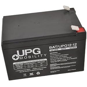 UPG UB12120 12V 12Ah Upg Sealed Lead Acid Agm Mobility Scooter Battery