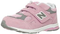 New Balance KV990 Running Shoe (Infant/Toddler),Pink/Grey,3 M US Infant
