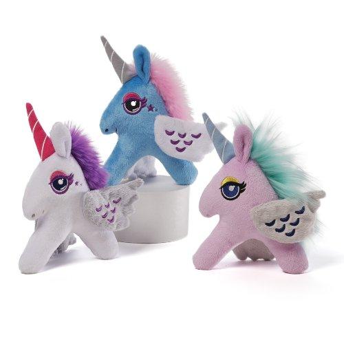 gund 儿童独角兽毛绒玩具 蓝色 sparkle hunters unicorn - blue