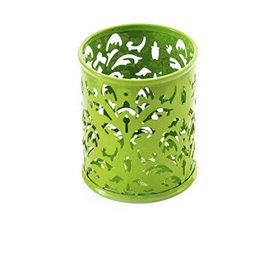 Lucoo Fashion Makeup Brush Vase Pattern Brush Pot Pen Holder Stationery Storage (Green)