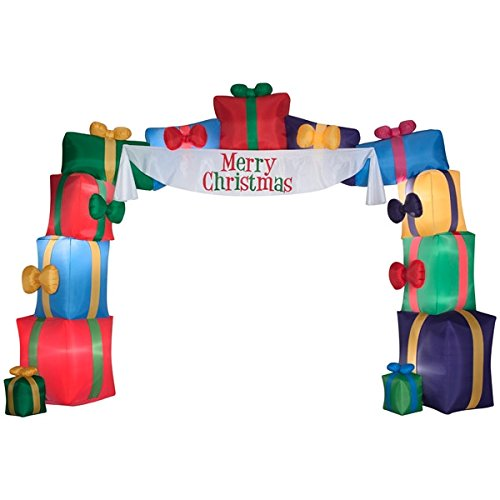 I2ft Inflatable Airblow Holiday Christmas Presents Lighted Outdoor Archway Decoration