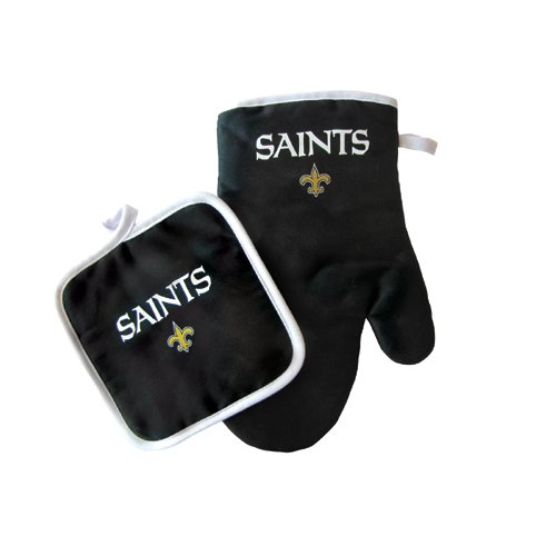 New Orleans Saints NFL Oven Mitt and Pot Holder Set at Amazon.com