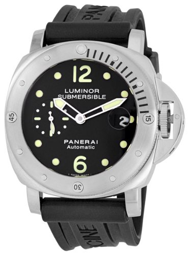 Panerai Men's M00024 Luminor Submersible Black Dial Watch