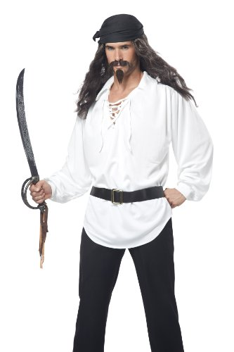 California Costumes Men's Pirate Wig Moustache and Chin Patch