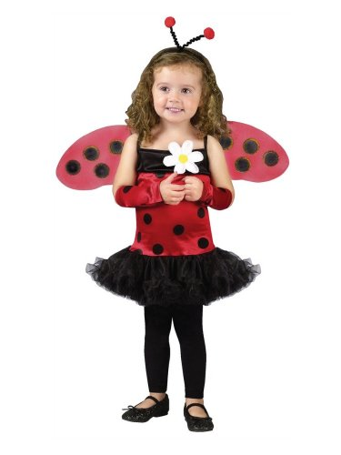 Fun World Costumes Baby-girls Ladybug with Antennae & Wings