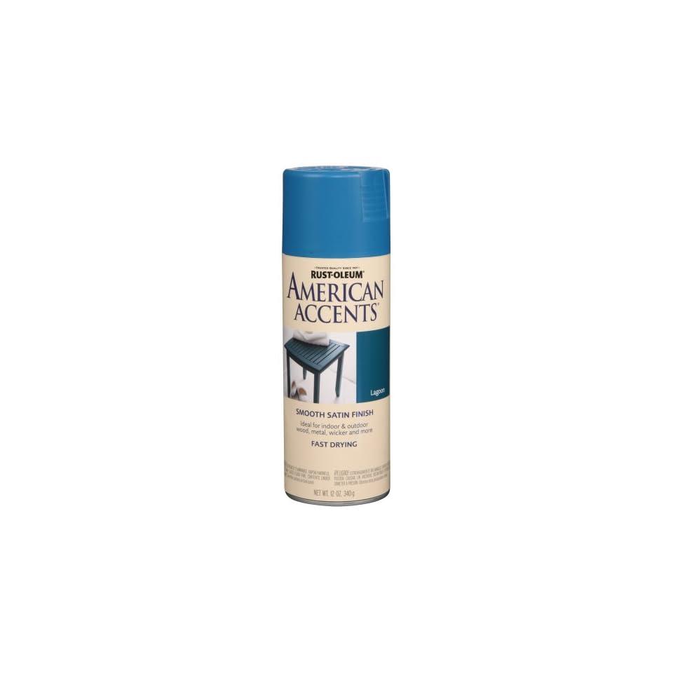 Rust Oleum 7929830 American Accents Spray, Satin Lagoon, 12 Ounce