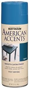 Rust-Oleum 7929830 American Accents Spray, Satin Lagoon, 12-Ounce