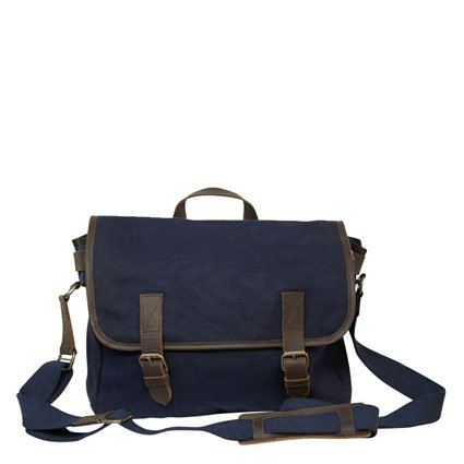 United by Blue Organic Canvas Messenger Bag by United by Blue Navy Blue