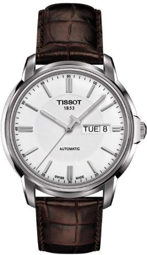 Tissot Automatic III White Dial Stainless Steel Mens Watch T0654301603100