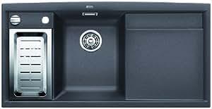 BLANCOAXIA II 6 S évier encastrable, gris rocher, SILGRANIT®, pour des meubles sous évier de 60 cm