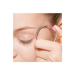Skin spring facial hair removal device