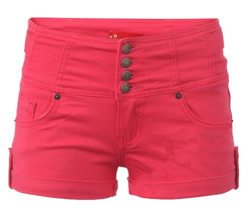 Womens Coloured Stretchy Denim Hotpants.