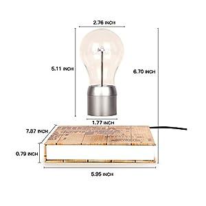 Raking Upmarket Magical Levitating LED Light Bulb /Table Lamp /Night Light/Desktop Decoration with Magnetic Levitating Floating Technology, to Decorate Office, Living Room, Studio by Raking
