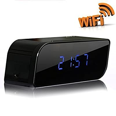 P2P Wifi Pinhole Hidden Alarm Clock Spy Security & Surveillance Camera