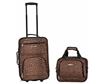 Rockland Luggage 2 Piece Printed Set, Leopard, Medium