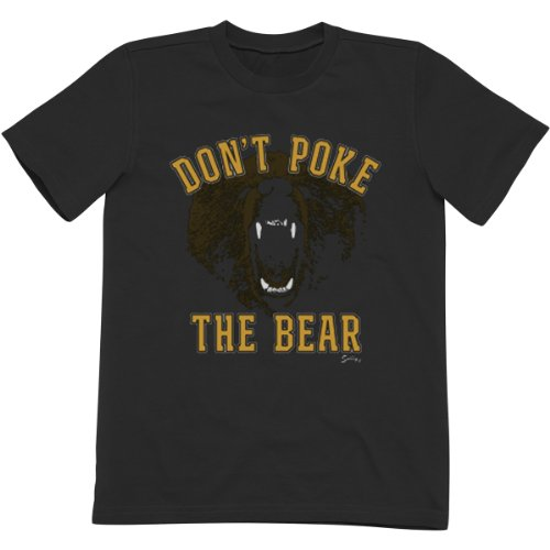 Sully'S Brand. Youth Don'T Poke The Bear Bruins Tee - Black (Youth Small 6-8) front-1026187