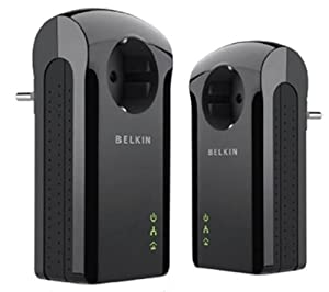 Belkin Pack de 2 adaptateurs CPL avec prise intégrée 200 Mbps