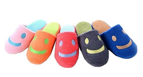 Home Floor Soft Indoor Slippers Smile Face (Grey, 11 (26.5cm))