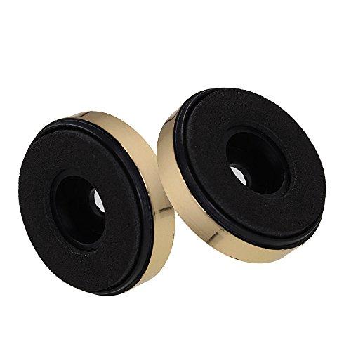DAC enceinte Lecteur CD pieds de support 30 mm x 8 mm-Trou intérieur montée en or Lot de 10