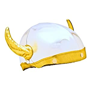 Viking Helmet Cover (Lycra) - One Size Fits All (Kids + Adults) & All Sports... by Tail Wags Helmet Covers