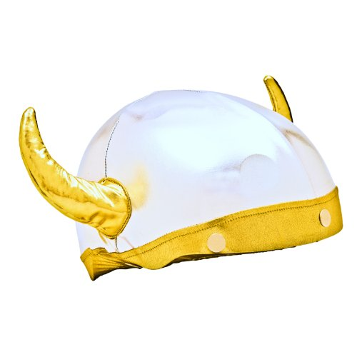 Viking Helmet Cover (Lycra) - One Size Fits All (Kids + Adults) & All Sports Helmets - For Bike, Skateboard, Rollerblade, Ski, Snowboard, Hockey, Toboggan, Skate, Equestrian, Bicycle - Superb Quality - Safety & Fun Combined