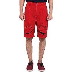 FBBIC Striking Red Men's Solid Short(Size::3XL)