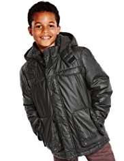 Pure Cotton Hooded Coated 3-in-1 Jacket