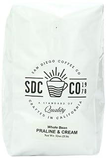 San Diego Whole Bean Roasted Coffee Praline and Cream 32 Ounce