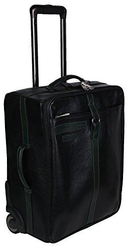 8750ec1677 Hidesign Jackson 04 -Black Forest Green Leather Travel Bag Hidesign