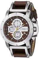 Fossil - JR1157 - Montre Homme - Quartz Chronographe - Chronomètre - Bracelet Cuir Marron