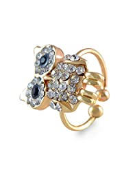 Owl Shape Adjustable Gold Toe Ring For Women By Sarah