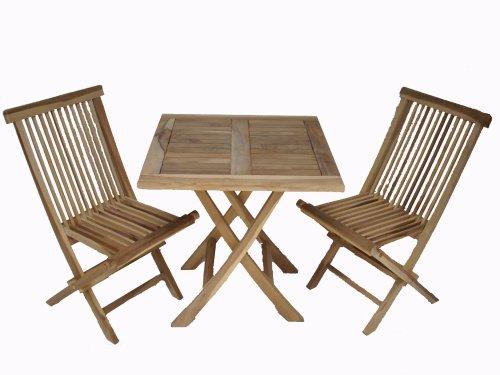 Ambientehome-Teakholz-Balkonset-Sitzgruppe-Bistroset-Tisch-eckig-Natur-3-teiliges-Set