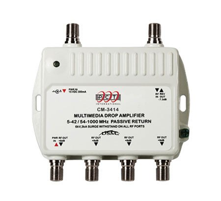Channel Master Distribution Amplifier 4-Way 8 Db 50-1000 Mhz Professional Grade Performance