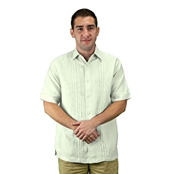 Mens beach wedding shirt ivory.