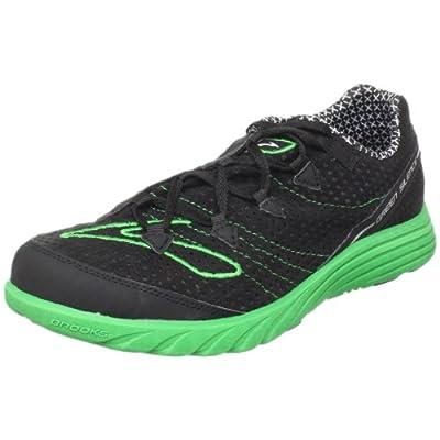 Brooks Men's Green Silence Running Shoe,Black/Kelly Green,5 D(M) US