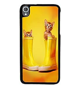 printtech Kitten Cat Boots Back Case Cover for HTC Desire 820::HTC Desire 820Q::HTC Desire 820S