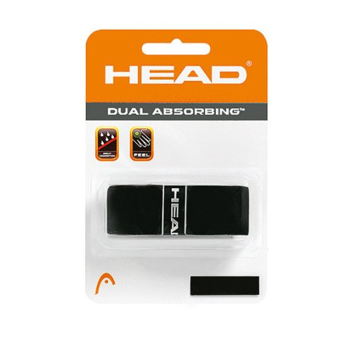 Head Dual Absorbing Replacement Grip Tennis Racket - Black