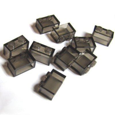 Lego Building Accessories 1 x 2 Transparent Smoke Brown Brick without Pin, Bulk - 50 Pieces per Package