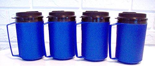 12 Oz Thermoserv Retro Classic Foam Insulated Travel Coffee Mug - Blue