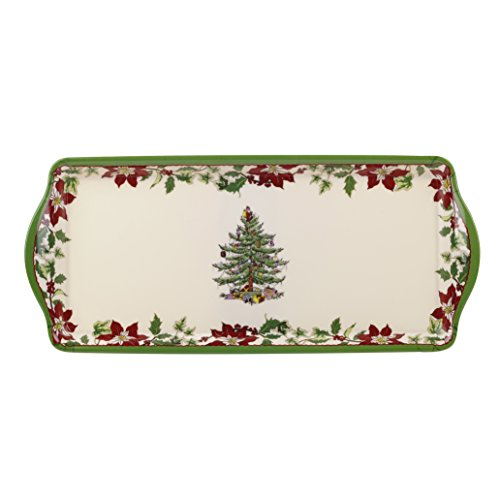 Spode Christmas Tree Melamine Sandwich Tray, Multicolor (Christmas Tray compare prices)