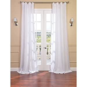 amazon com purity white linen sheer curtain window