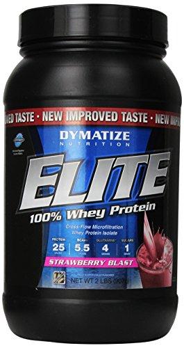 Dymatize Nutrition Elite Whey Shake, Strawberry Blast, 2 Pound
