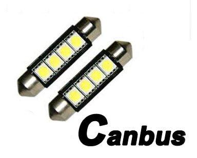 42mm CanBus LED Bulbs Pair White 6000K 576 578