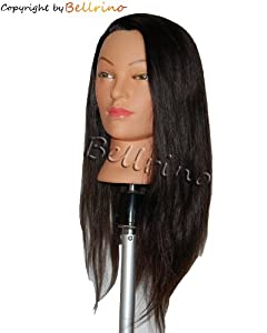 "Bellrino 24 "" Cosmetology Mannequin Manikin Training Head with Human Hair - Lindsey"