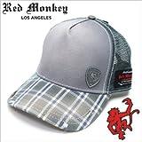 レッドモンキーキャップ[REDMONKEY]( RED MONKEY キャップ レッド モンキー 帽子 )キャップ/CHEM-FRONT[ 帽子 ハット キャップ 野球帽 メッシュキャップ アメカジ デザイン ダメージ ブランド 大きいサイズ メンズ ]