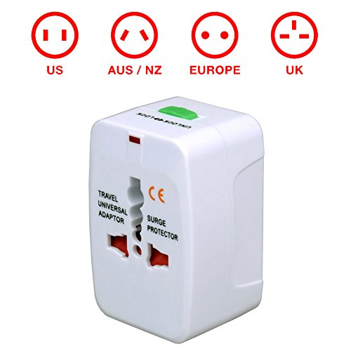 G-Force All-In-One Global Travel Adapter With Surge Protection - Rohs & Ce Approved