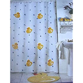 Rubber ducky shower photos images for Duck bathroom accessories