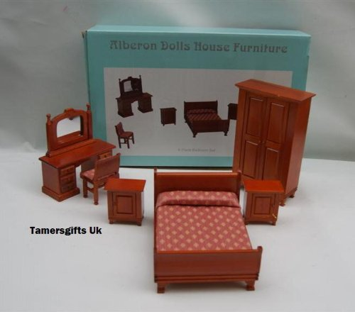 ALBERON DOLLS HOUSE BEDROOM FURNITURE